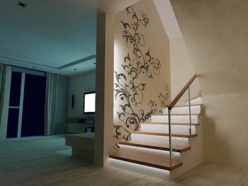 warm house ludilajt painting wall design theza architects 061 how to decorate a foyer entrance - House Wall Designs