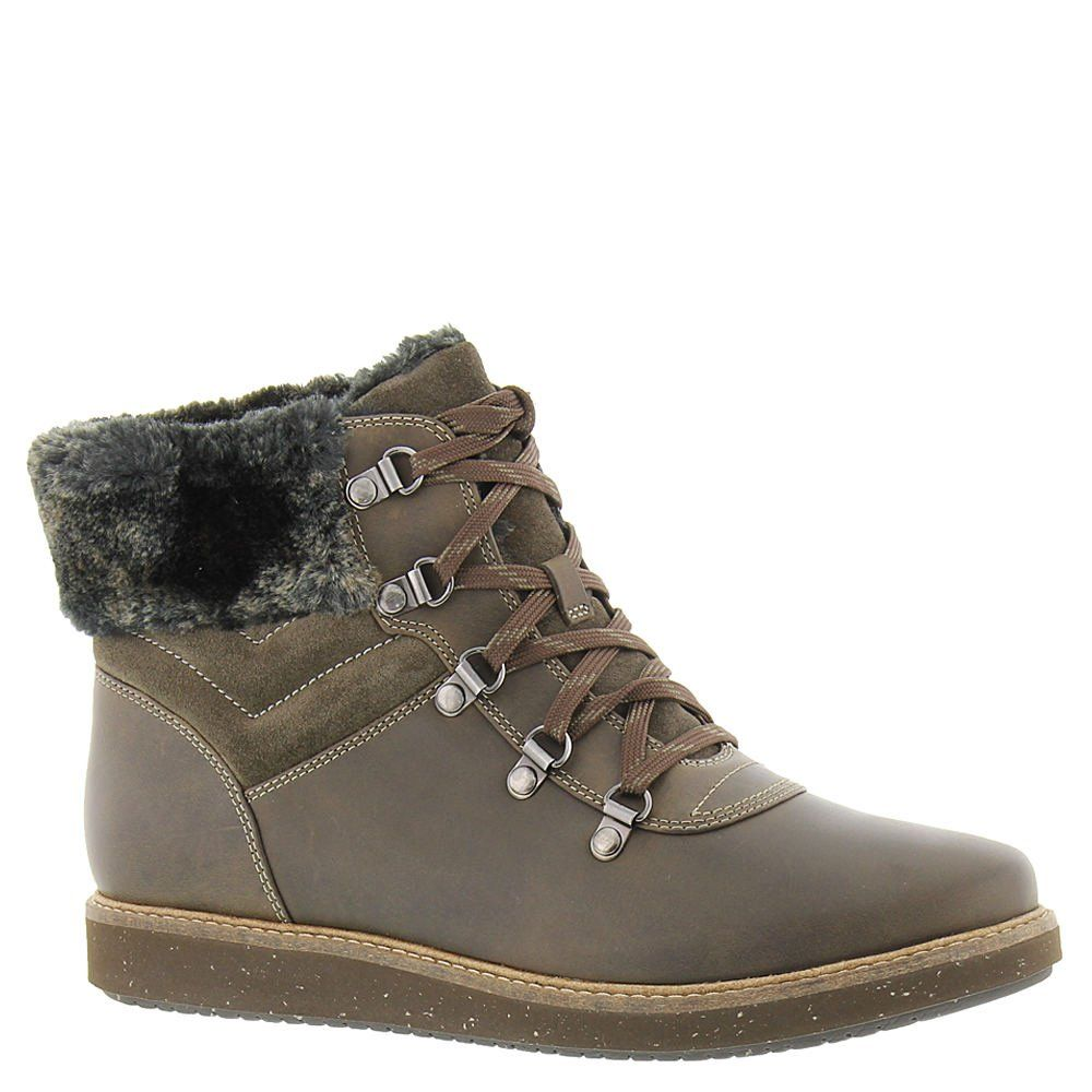 Clarks Women's Glick Clarmont Hiking Boot,Khaki Cow Nubuck/Suede,US 11 M