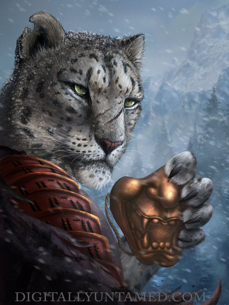 Image Result For Snow Leopard Tabaxi Rpg Characters In 2019