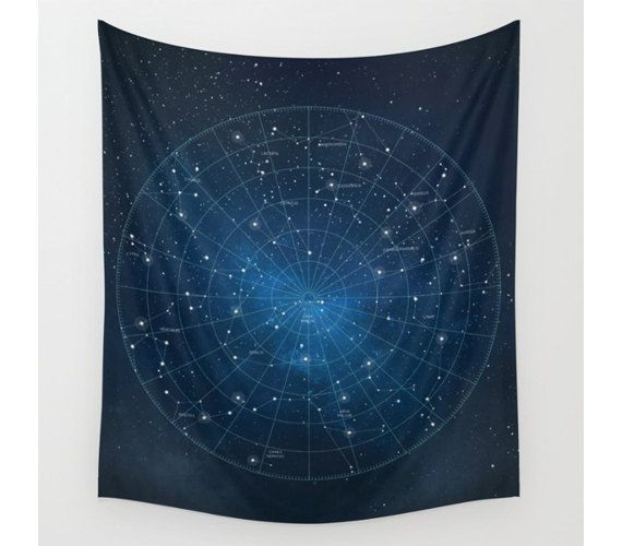 Constellation Wall Tapestry Wall Hanging Star Map Etsy Wall Tapestry Tapestry Tapestry Wall Hanging