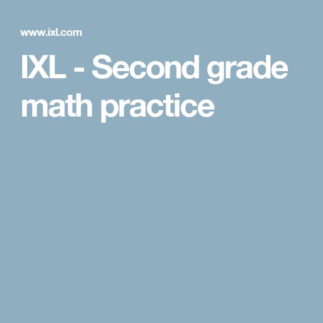Ixl Second Grade Math Practice Matematica Pinterest Math