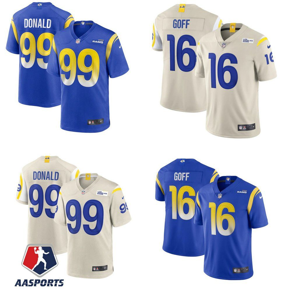 Camisa Los Angeles Rams 99 Aaron Donald 16 Jared Goff In 2020 Los Angeles Rams Donald Jared Goff