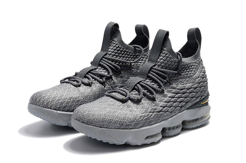 sale retailer 0106b cc570 Nike LeBron James 15 XV Wolf Grey Metallic Gold