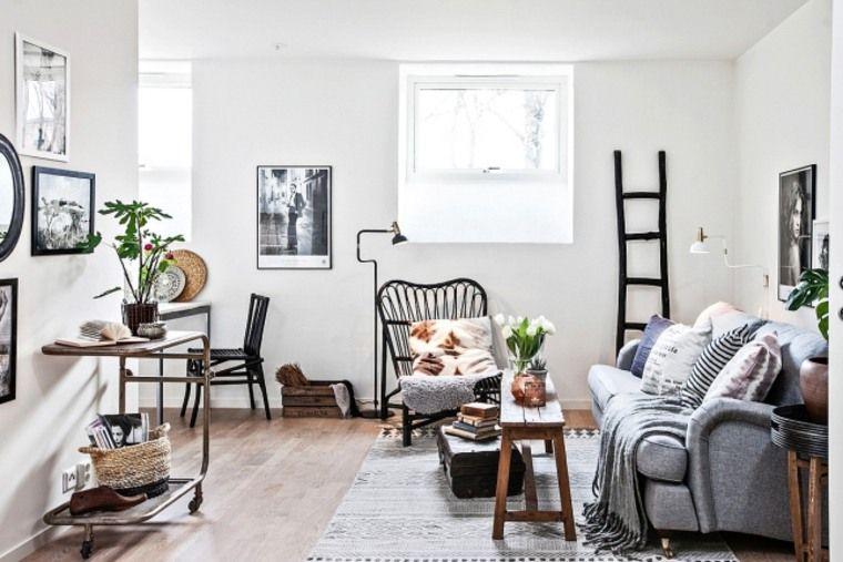 Inspiration salon ethnique chic un petit salon en noir et blanc sweet home d coration - Salon ethnique chic ...