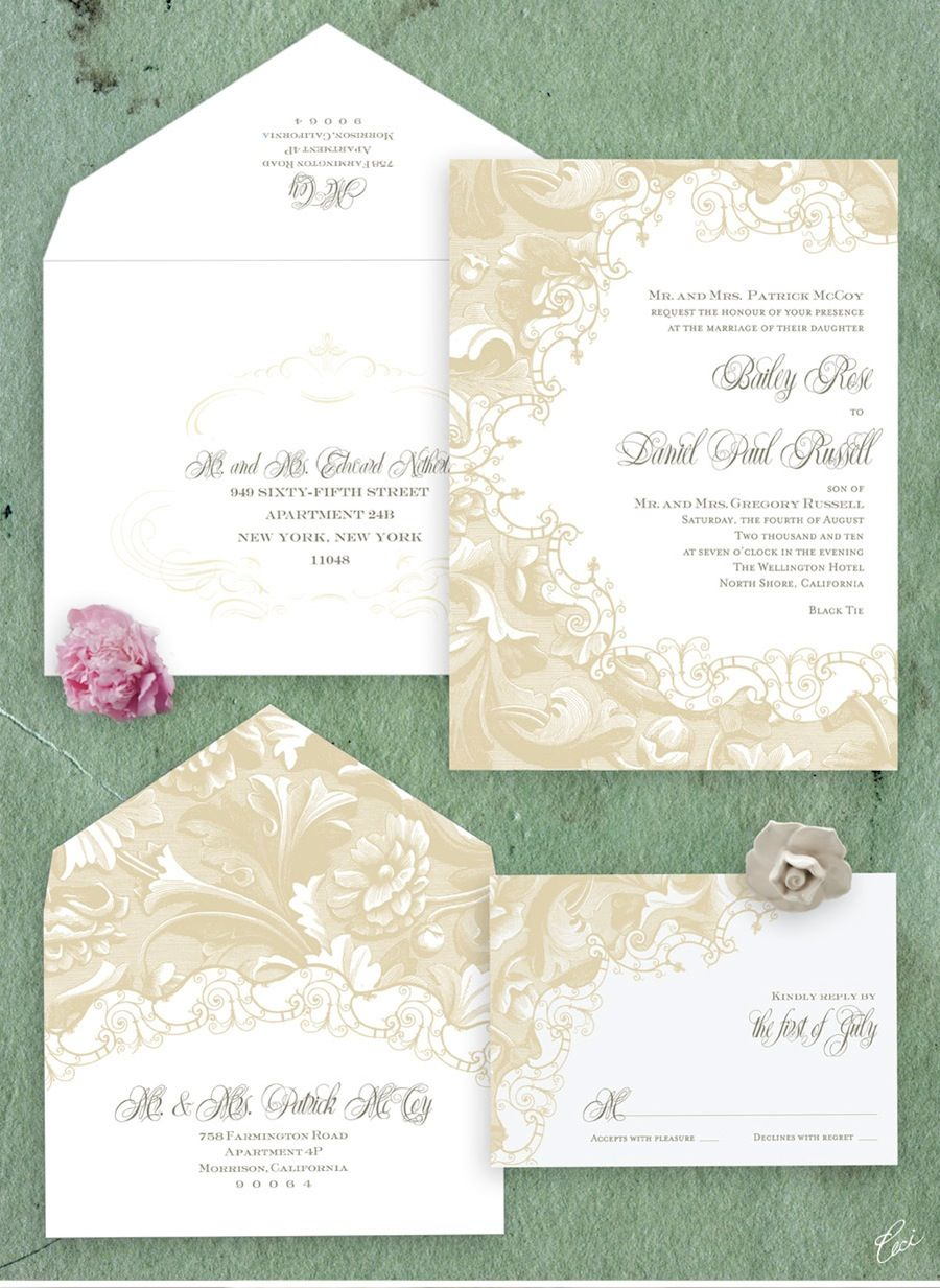 Grand Palais Vintage Wedding Invitation Design by Ceci New York ...