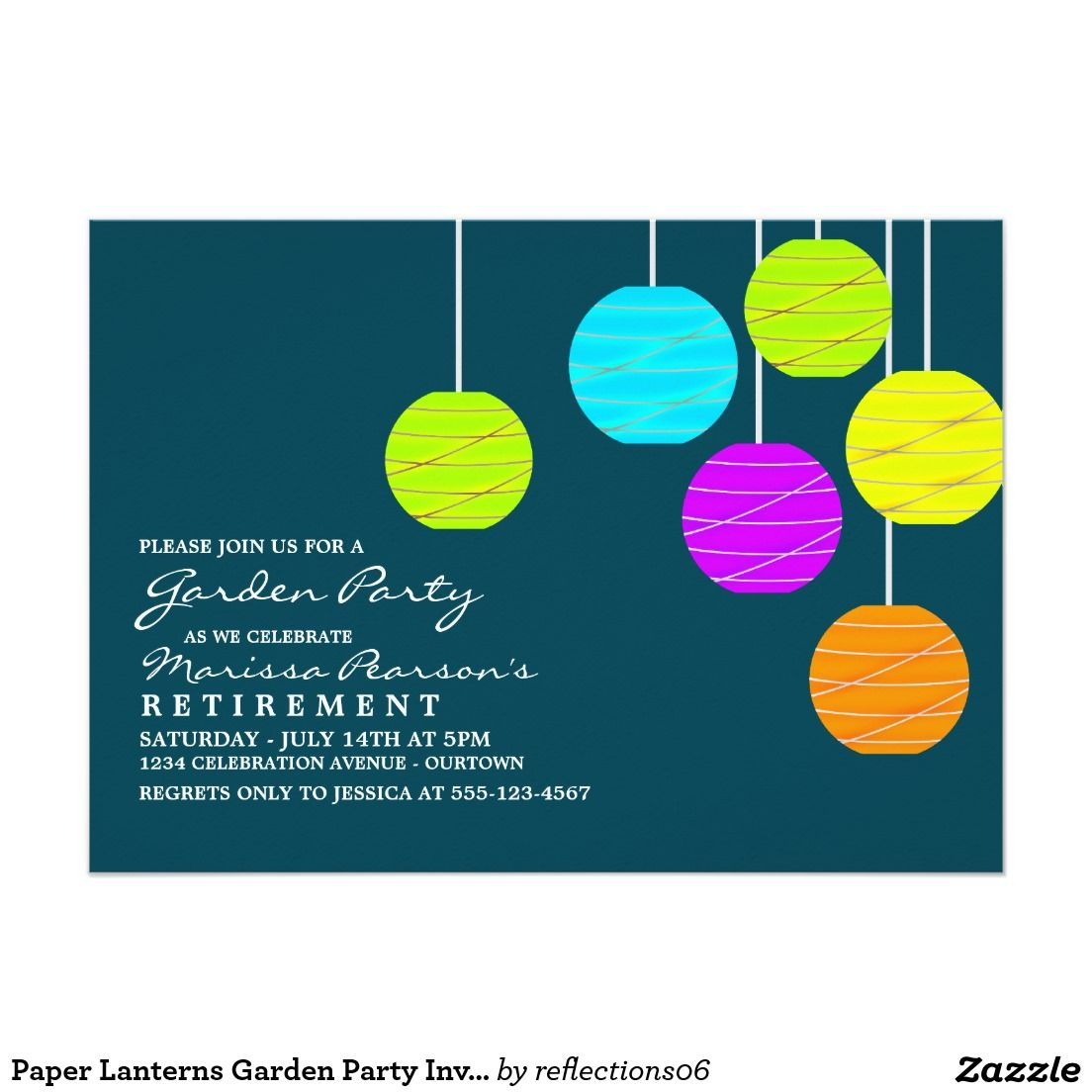 paper lanterns garden party invitations invitations pinterest