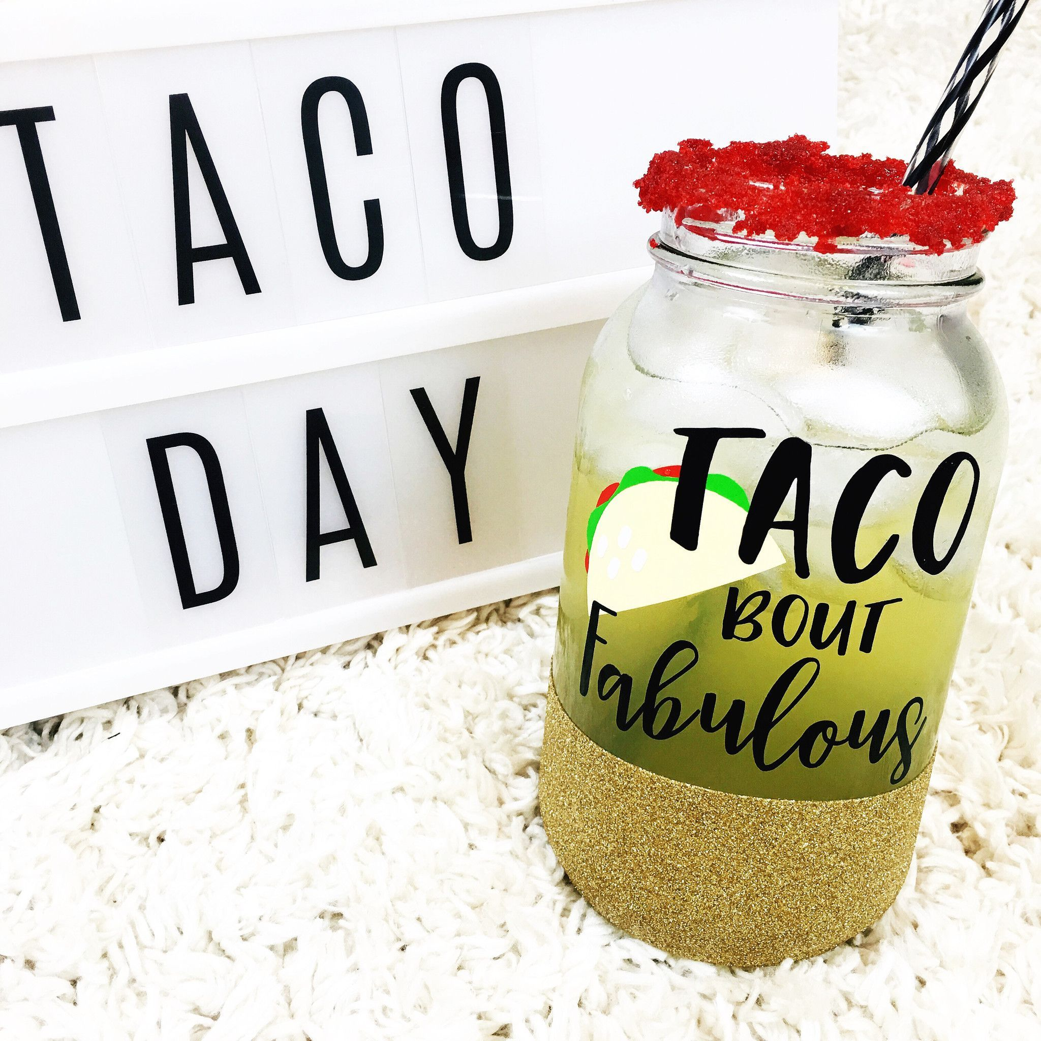 TACO Bout Fabulous Tumbler Jars Masons And Products - Vinyl cup care instructions