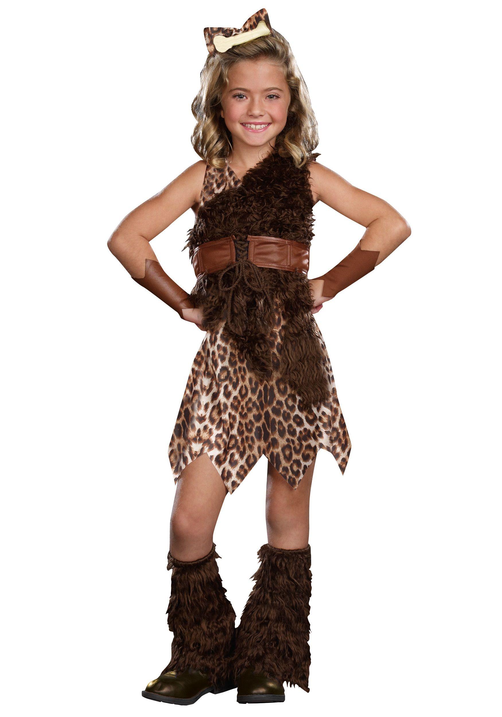 Child Cave Girl Cutie Costume Caveman costume, Halloween