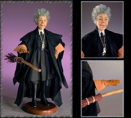 Creager Studios Madam Hooch Harry Potter Miniatures Harry Potter Toys Harry Potter Dolls