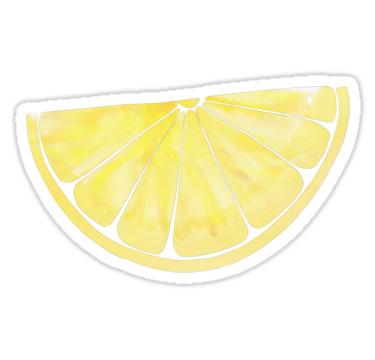 Lemon Slice Sticker By Zoe Calyer Hydroflask Stickers Summer Sticker Red Bubble Stickers