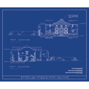 Alamo Mission Wall Art - oldblueprints Blueprint Art Pinterest - new old blueprint art