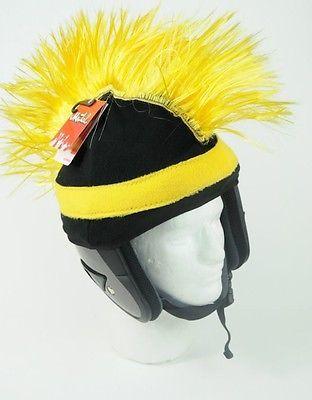 5769b33e7b481 Mental Gear Funky Crazy Ski   Snowboard - HELMET COVER - Razor Mohawk -  Yellow