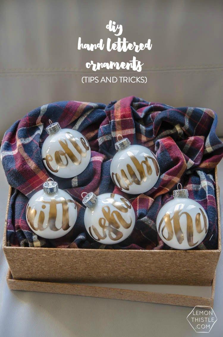Ornaments with names on them - Hand Lettered Ornaments Are So Versatile You Can Make Them Any Colour With Any Name Masculine Or Feminine Once You Get The Hang Of Lettering On A Curved