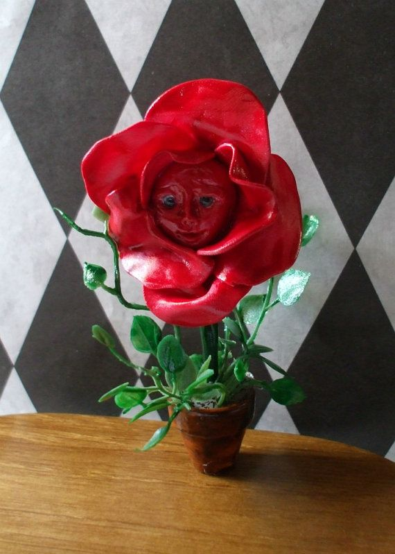 Gothic Witch Magical Alice in Wonderland Flower by MidnightsDreams, $11.75