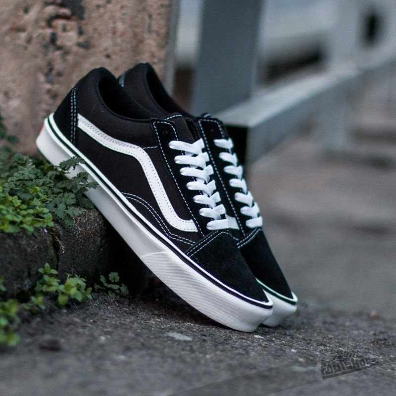 59bfb346482 Vans Old Skool Lite+ (Suede Canvas) Black White - Footshop