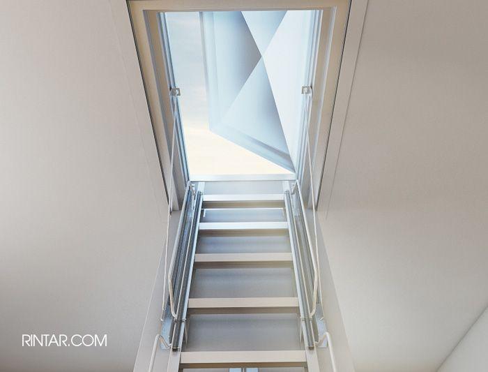 Escaleras plegables de altillo en madera for Escaleras para altillo