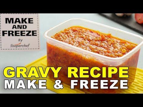 how to freeze homemade gravy