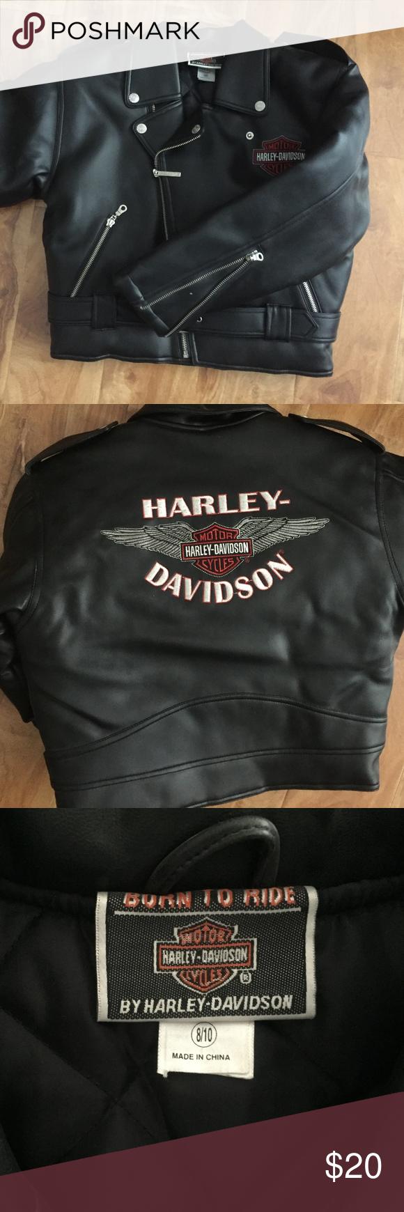 Harley Davidson Kids Faux Leather Jacket Faux Leather Jackets Harley Davidson Kids Harley Davidson Jacket [ 1740 x 580 Pixel ]