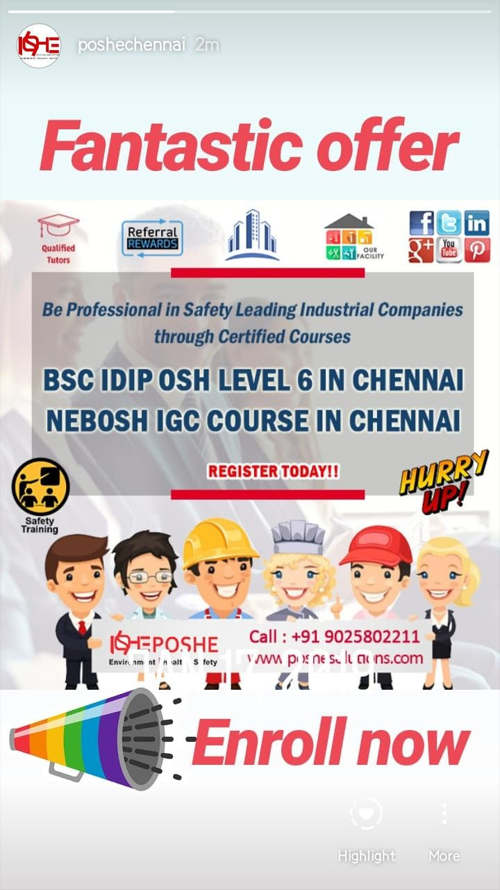 Join safety courses in chennai. Safety training