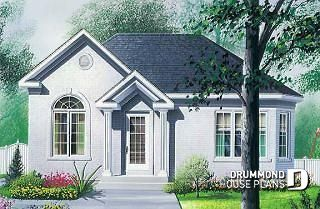 Adaline low budget house plan with bedrooms cathedral ceiling and daylight basement  also rh pinterest