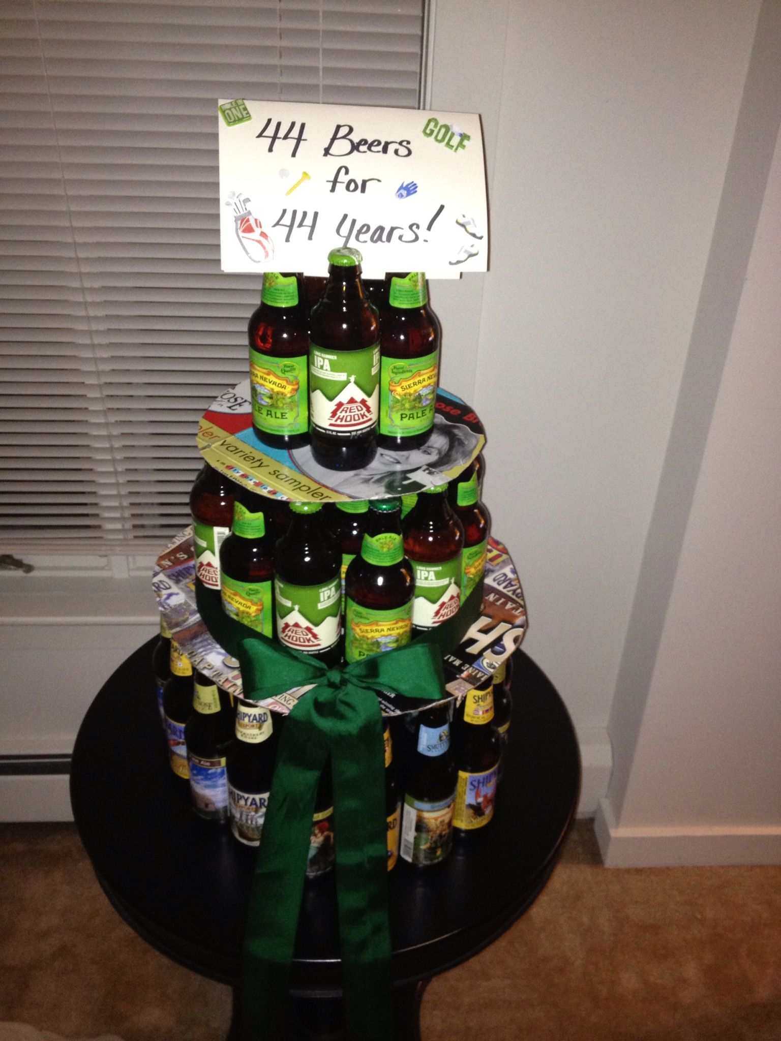 Birthday Quot Cake Quot Made From Bottles Of Beer Ta Da