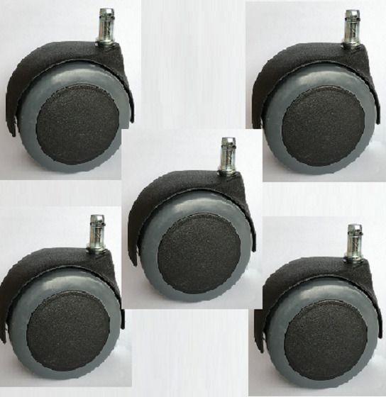 Bürostuhl design rollen  1 Satz (5Stück) Möbelrollen 80mm, ohne Bremse Bürostuhl Design ...