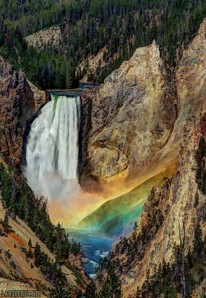 Lars Leber Photography— Yellowstone Falls Rainbow