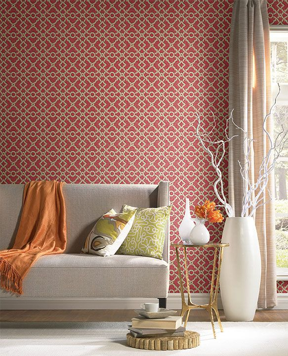 Artistic Twist in Paprika (GC8720) is from the Waverly Global Chic ...
