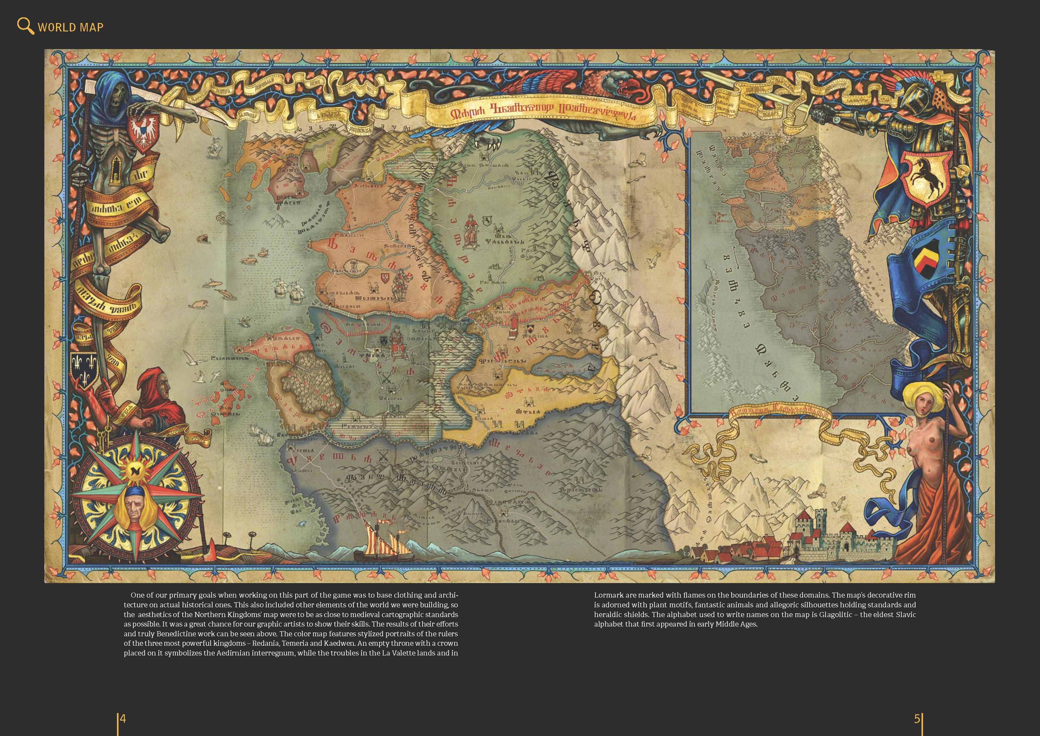 Witcher 2 | World Map Art (Video Game) | Pinterest | Map art