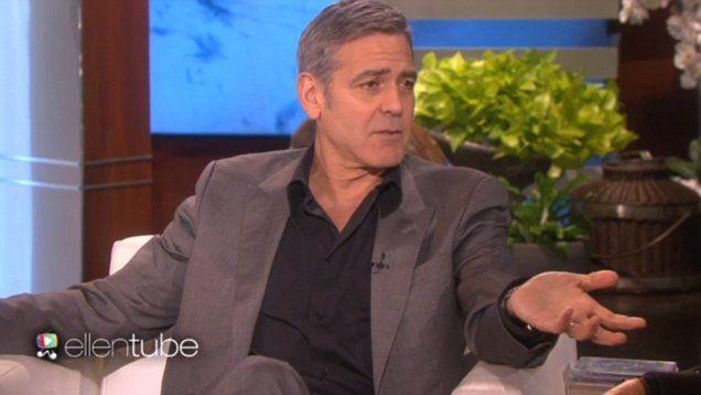 George Clooney recalls awkward proposal to Amal with Ellen Degeneres.