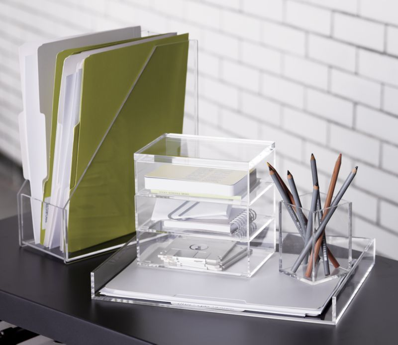 Crystal Clean Acrylic Desk Accessories Organize In Not So Plain Sight Is A Exclusive