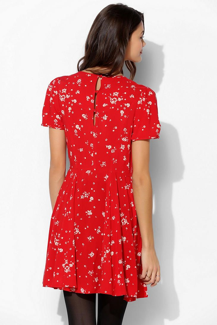 869978f2d210 Kimchi Blue Kimchi Blue Ruby Keyhole Fit Flare Dress in Red (RED MULTI)    Lyst