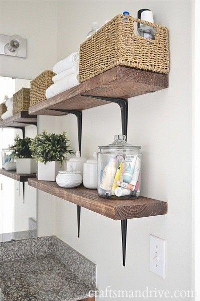 Diy Rustic Bathroom Wicker Storage Baskets Organization
