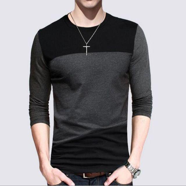 f6720b030c9 Tienda Online Liseaven 2017 camisetas informales para hombre de moda de manga  larga de algodón a rayas Camiseta ajustada para hombre Camisetas de talla  ...