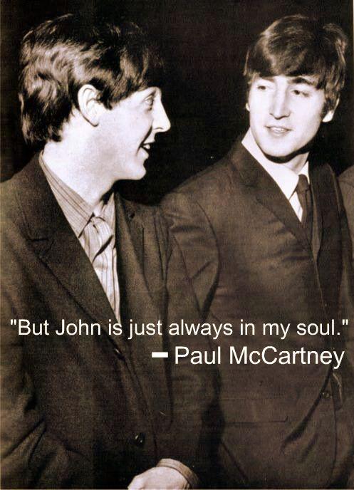 Paul McCartney and John Lennon...aww I get the feels with ...  Paul McCartney ...