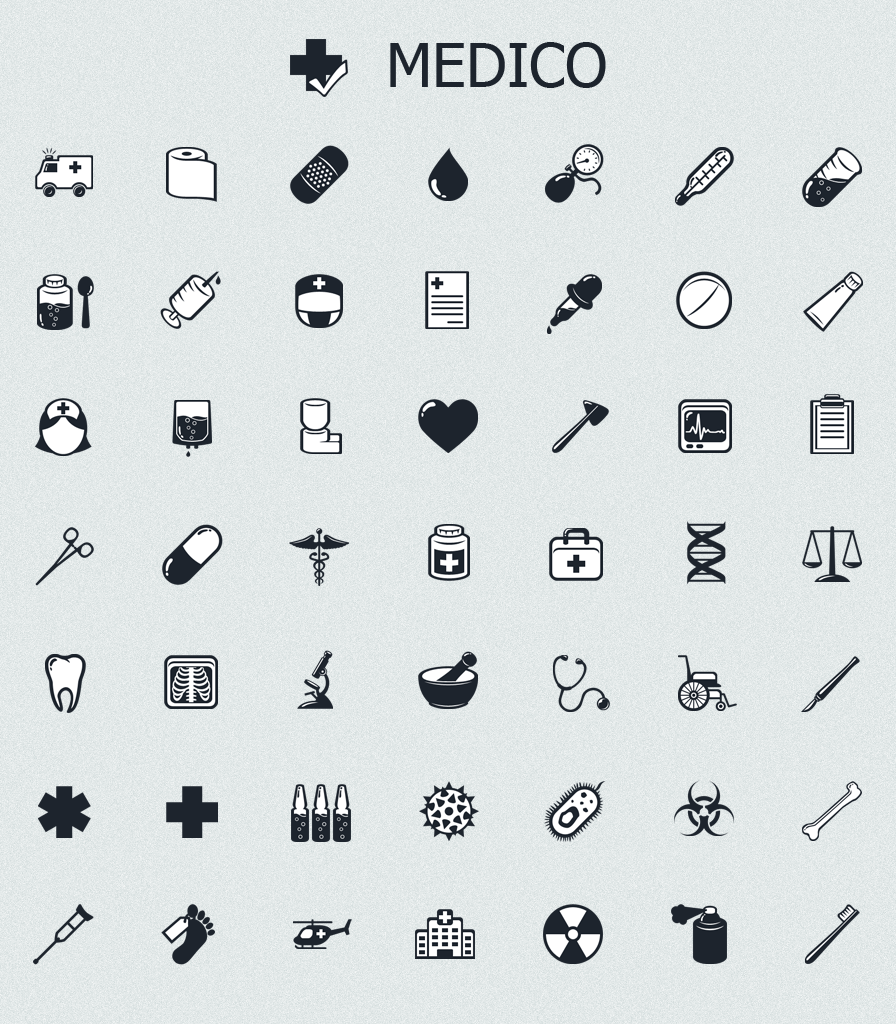 MedICO - black and white medical icons | iOS | Pinterest | Medical ...