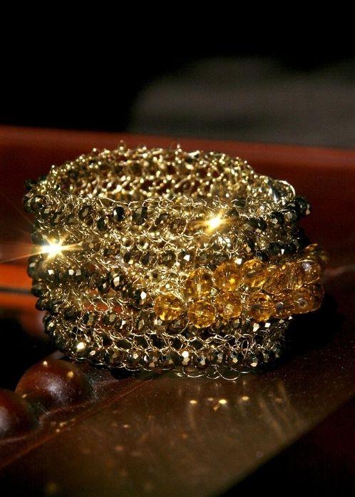 GOGA crochet bracelet 4 175 USD Hand crochet bracelet with non