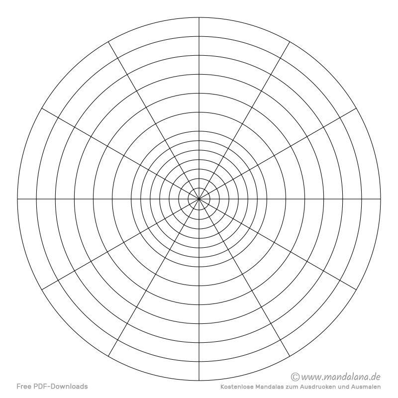 Konzentrische Kreise Kostenlose Vorlagen Zum Ausdrucken In 2020 Kostenlose Vorlagen Ausdrucken Vorlagen