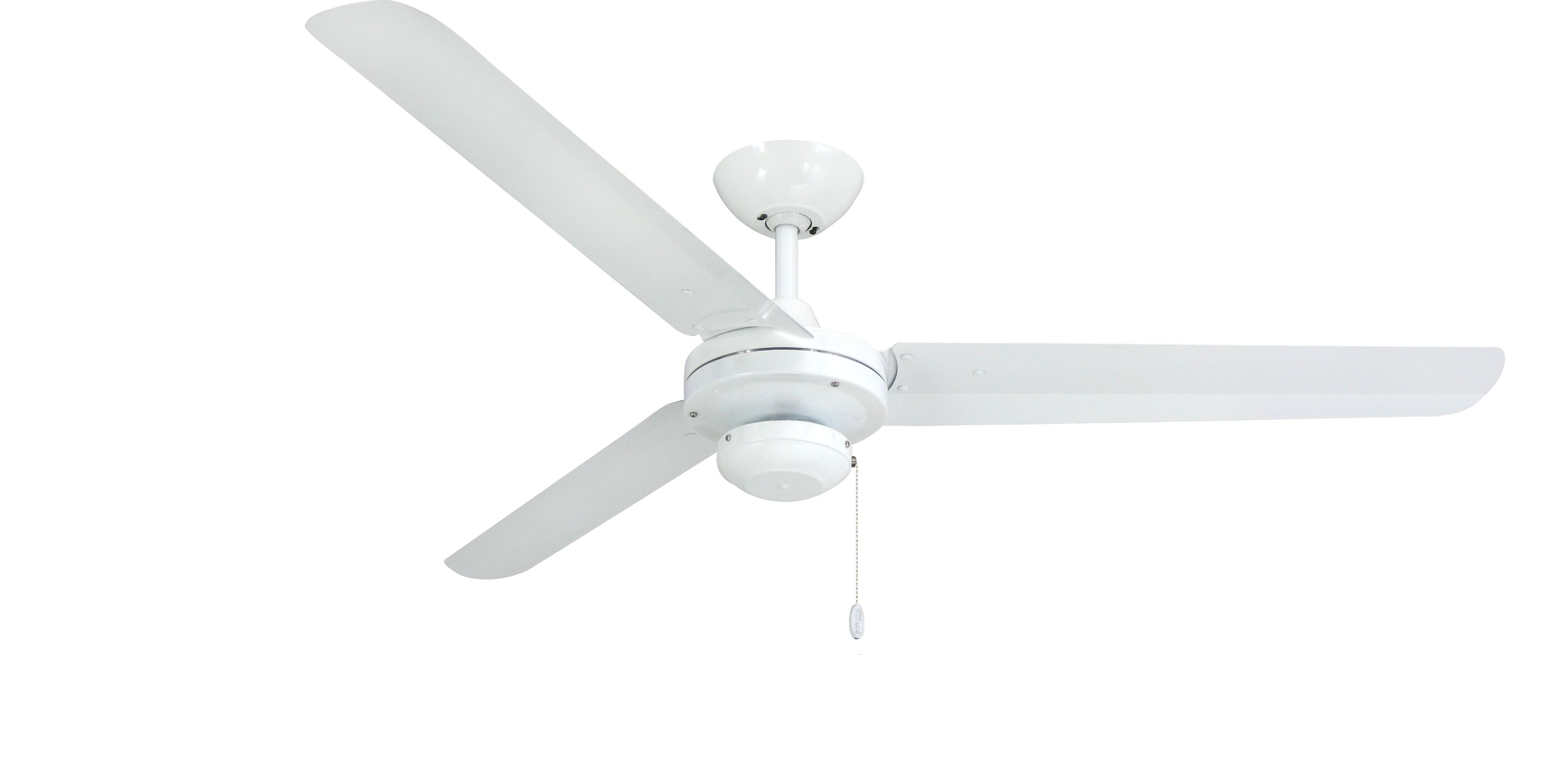 TroposAir Tornado Pure White Industrial Ceiling Fan with 56 Inch