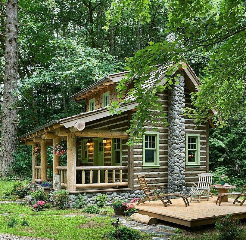 вечером глаза деревянный дом в саду фото после того