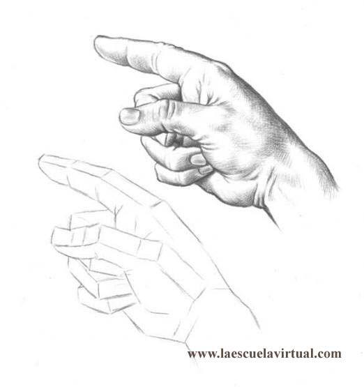 Curso Para Dibujar Manos Tutorial Gratis Curso Online How To Draw Hands Drawing Draw Dibujo Lapiz Dedos