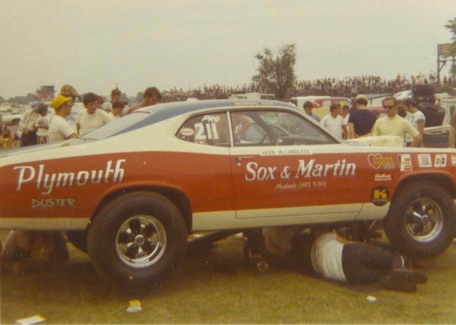 photos of sox & martin drag cars | In the last photo the word Duster ...
