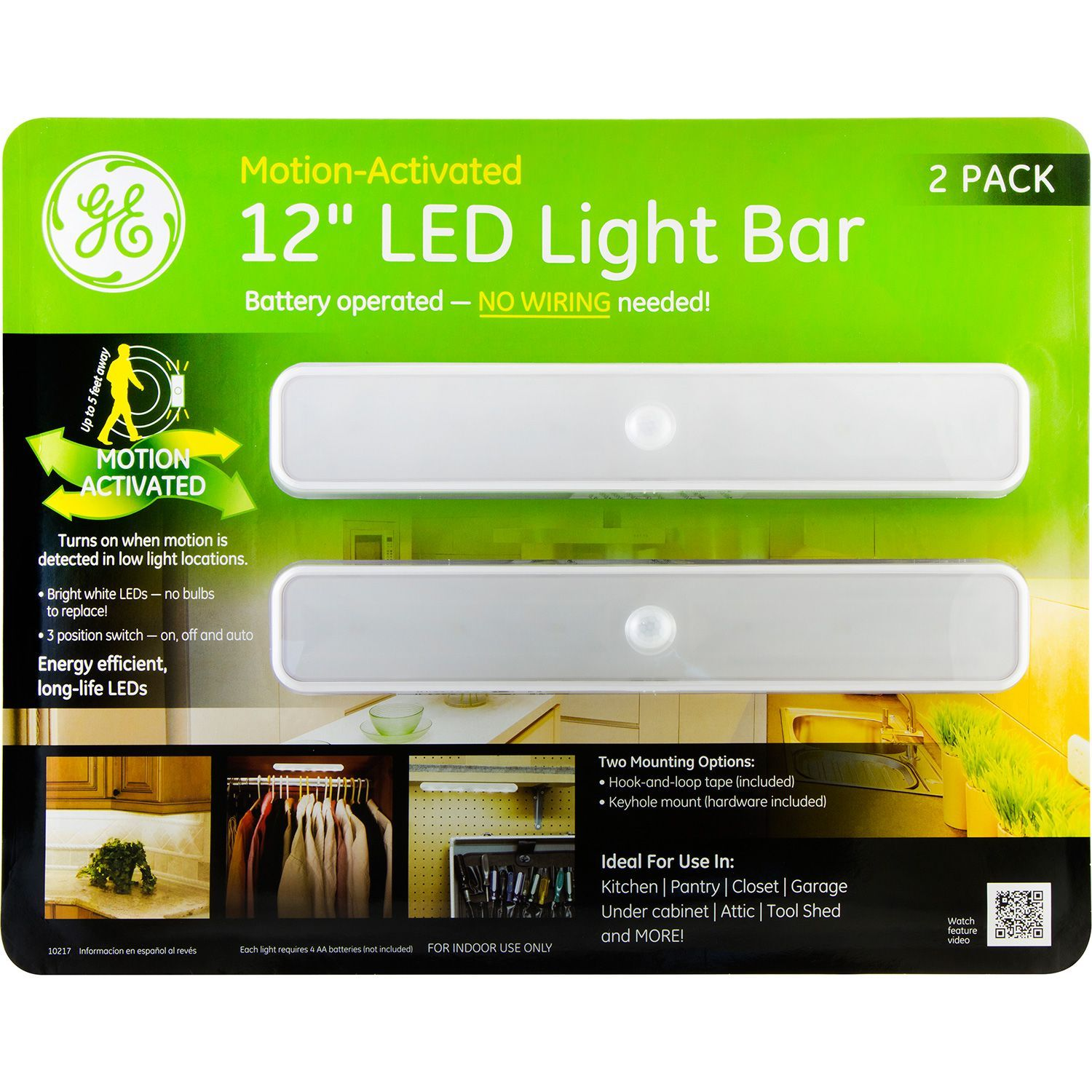 Ge Battery Operated Motion Activated 12 Inch Led Light Bars 2
