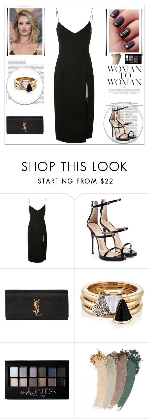 """but the one I'm looking for is right in front of me"" by noble2pa ❤ liked on Polyvore featuring Whiteley, Christopher Esber, Giuseppe Zanotti, Yves Saint Laurent, Brixton, Maybelline and Gucci"