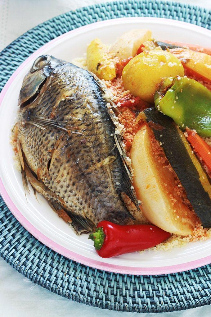 Couscous tunisien au poisson recette traditionnelle - Cuisine tunisienne poisson ...
