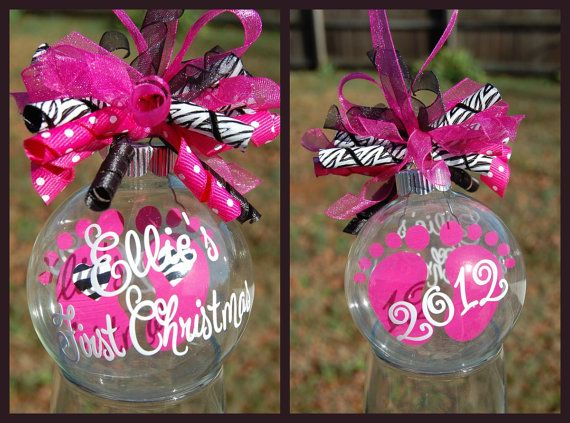 Zebra Baby S First Christmas Floating Ornament By