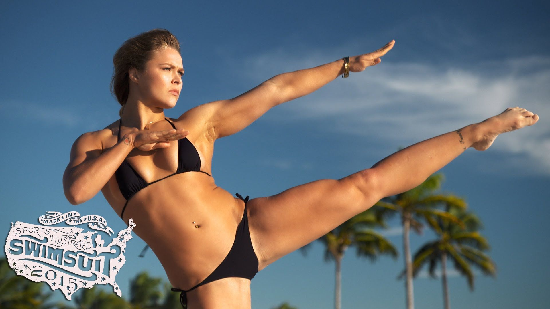 Ronda Rousey got naked (then nearly naked) for Sports