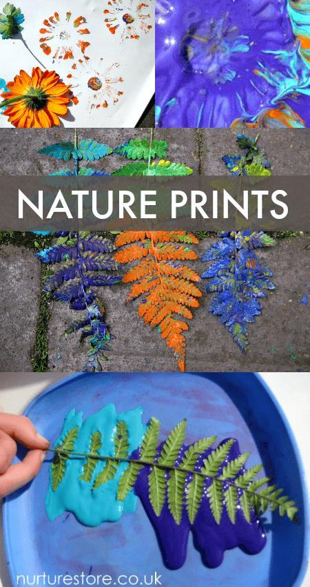 Flower printing garden art -   25 nature crafts flowers