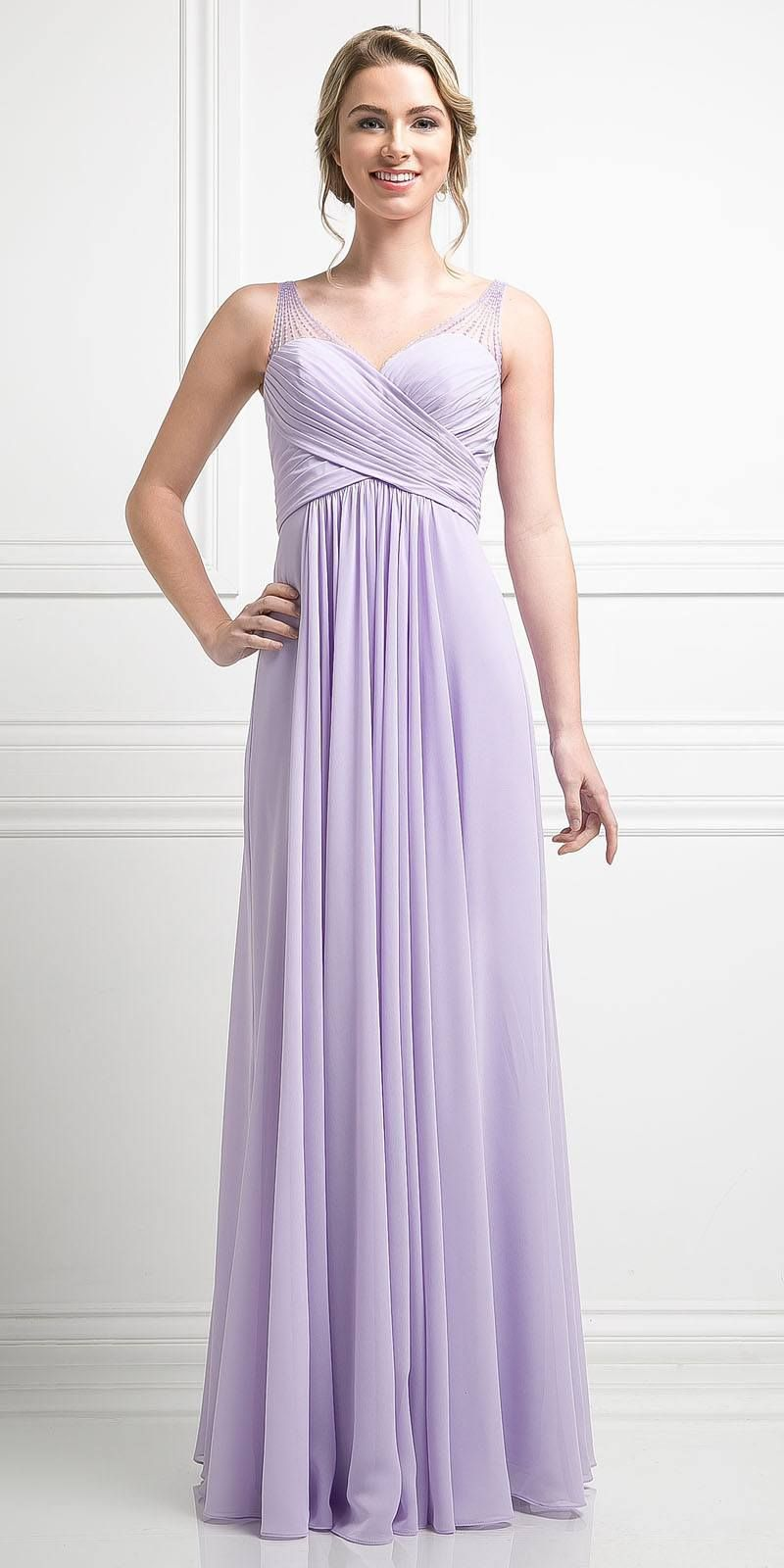 4996278d924 Red Long Formal Dress V-Neck Pleated Bodice Empire Waist
