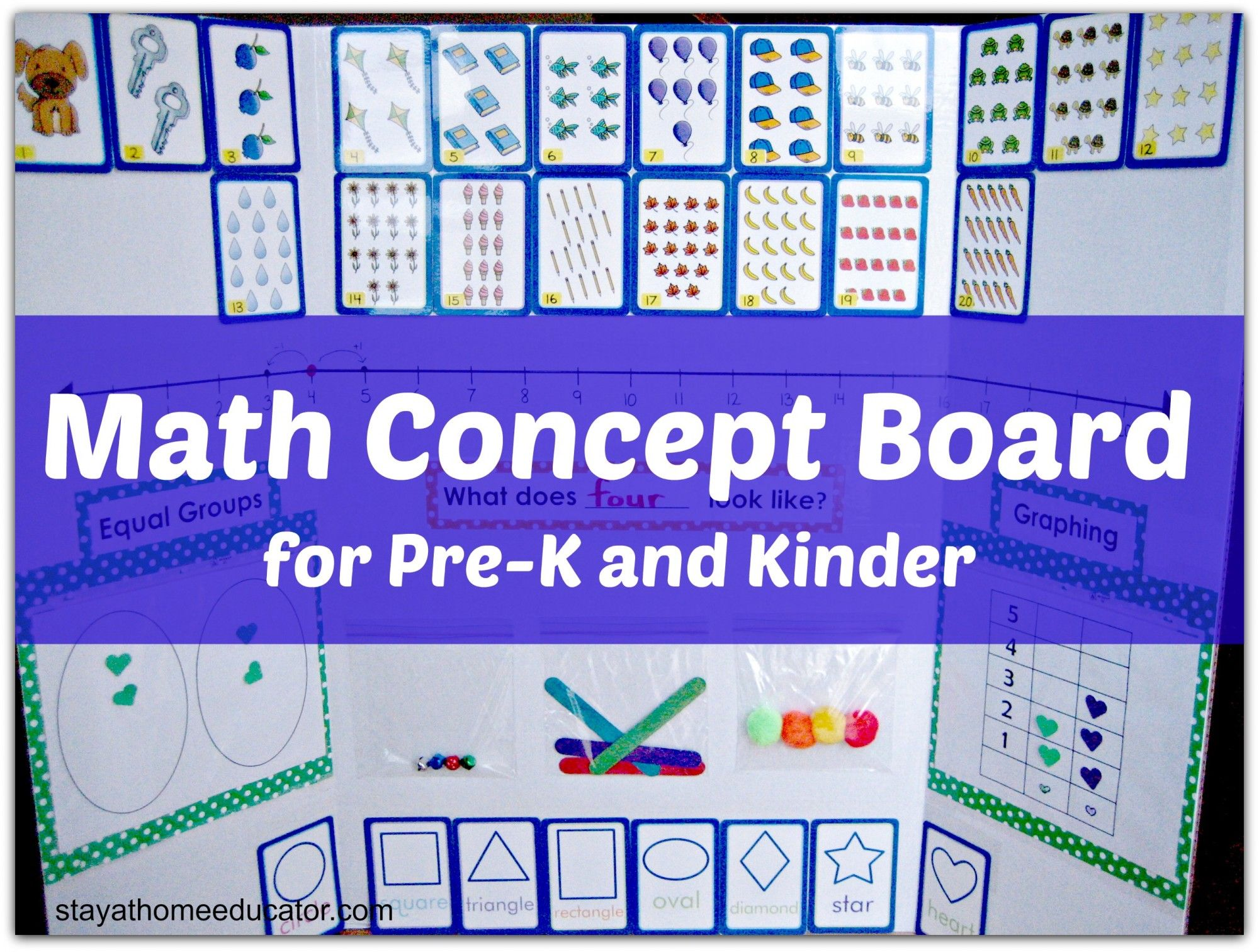 Math Concpet Board for Preschool and Kindergarten | Kind